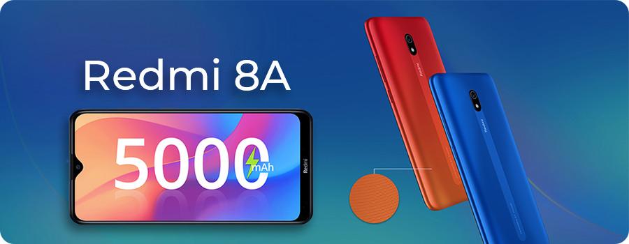 مشخصات فنی و قیمت گوشی xiaomi redmi 8A با باتری 5000 میلی آمپری لیتیوم پلیمری