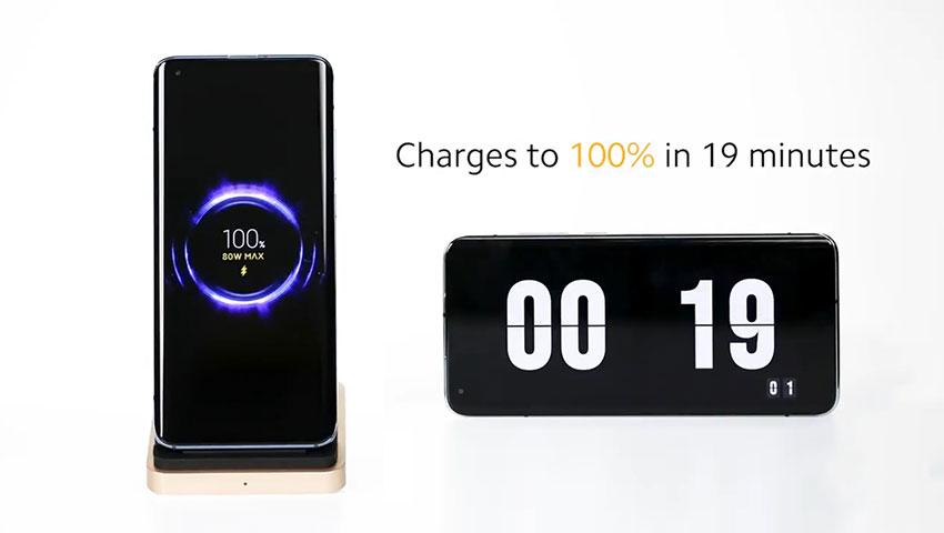 شارژر بی سیم جدید شیائومی با توان 80 واتی،/ با استفاده از این شارژر می توان باتری گوشی 4000 میلی آمپری را در مدت 19 دقیقه کامل شارژ کرد