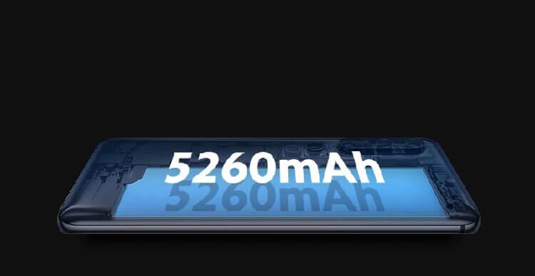 گوشی شیائومی mi note 10 lite دارای باتری 5260 میلی آمپری ، لیتیوم پلیمری با قابلیت شارژ 30 واتی
