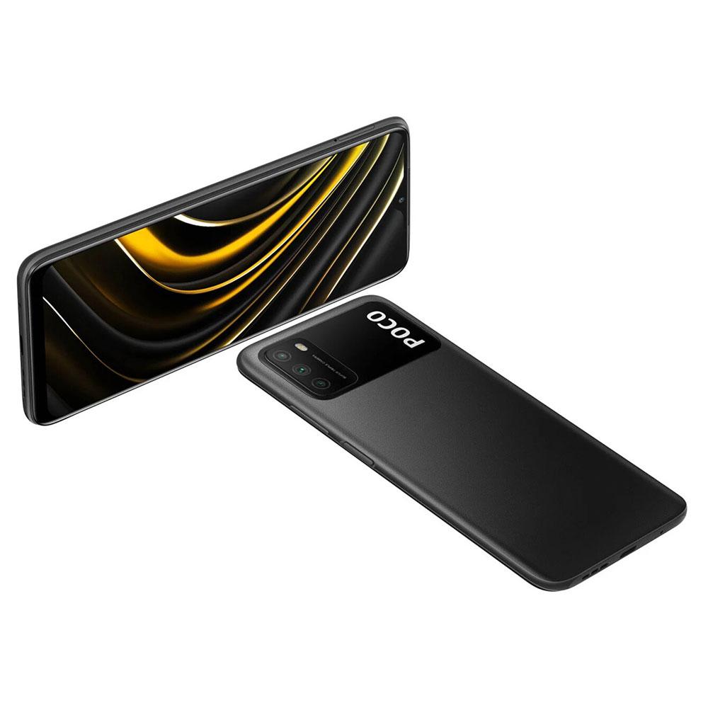 گوشی شیائومی poco m3  دارای حافظه داخلی 64/128 گیگابایتی و باتری 6000 میلی آمپری لیتیوم پلیمری می باشد/گوشی گیمینگ شیائومی پوکو m3