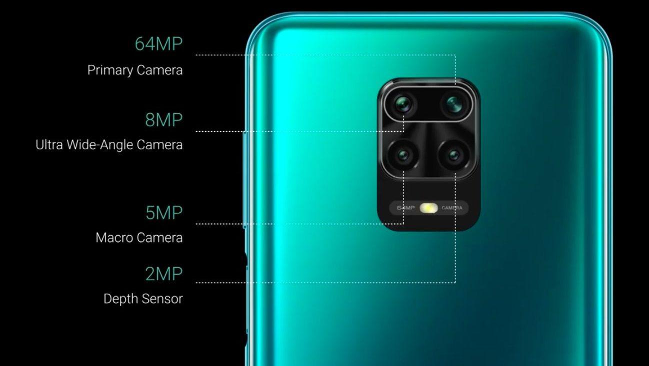 گوشی شیائومی نوت 9 پرو با دوربین 4 گانه 64+8+2+2 مگاپیکسل