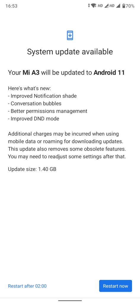 مدتی قبل آپدیت اندروید 11 برای شیائومی mi a3 منتشر شد که این آپدیت مشکلاتی را به همراه داشت، اکنون با آپدیت جدید این گوشی مشکلات قبل را رفع کرد