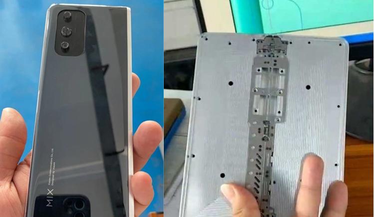 شیائومی mi mix foldable دارای لولا مرکزی است که به شما امکان می دهد صفحه نمایش را به سمت بیرون بکشید
