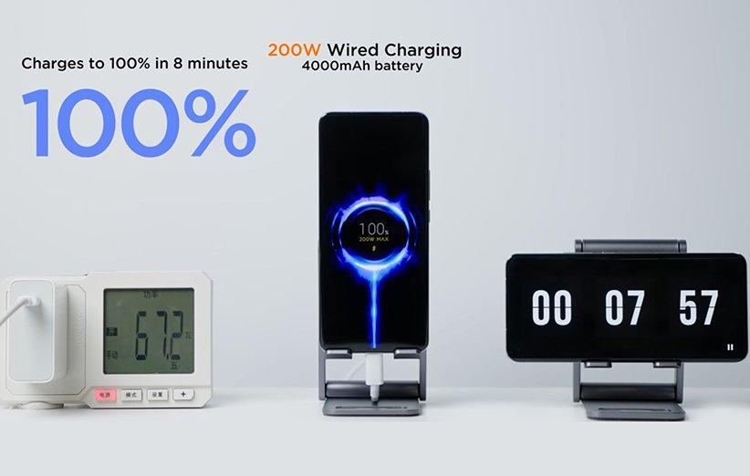 گوشی شیائومی با شارژر سریع 200 وات - شارژ کامل در 8 دقیقه ... طی فقط ۳ دقیقه شارژ باتری گوشی به ۵۰ درصد میرسد و چند ثانیه قبل از رسیدن ... این سیستمهای شارژ