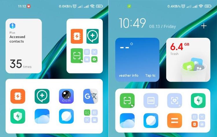 شیائومی برای MIUI در حال آزمایش سیستم ویجتی مشابه iOS است